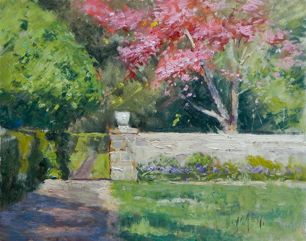 """""""The Garden Wall"""" original fine art by Paul Bachem"""