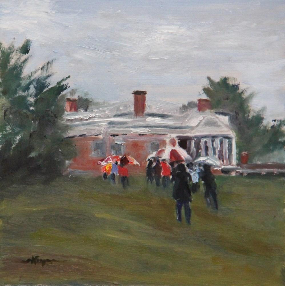 """Running for Cover"" original fine art by Shelley Koopmann"