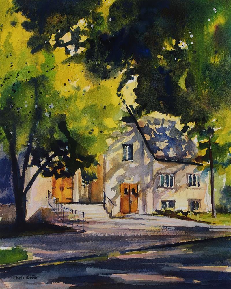 """""""Sunlit Church"""" original fine art by Chris Breier"""