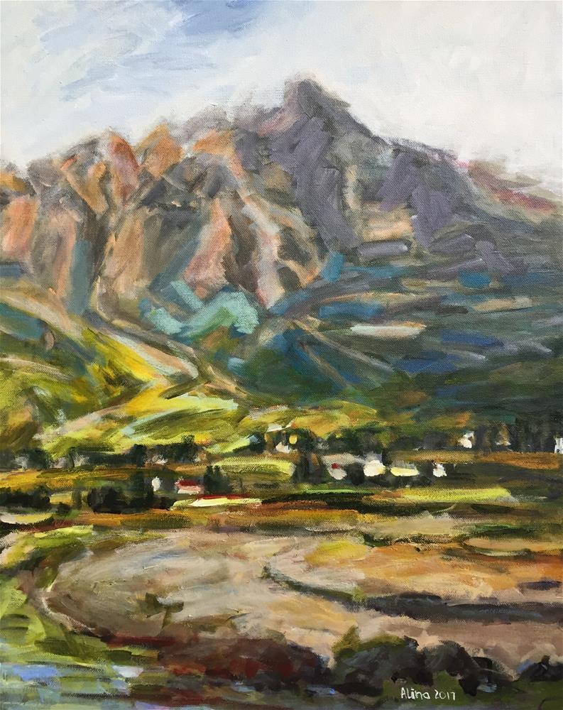 """""""Landscape"""" original fine art by Alina Vidulescu"""