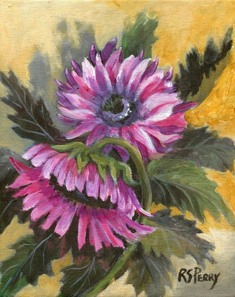 """Fall Flowers "" original fine art by R. S. Perry"