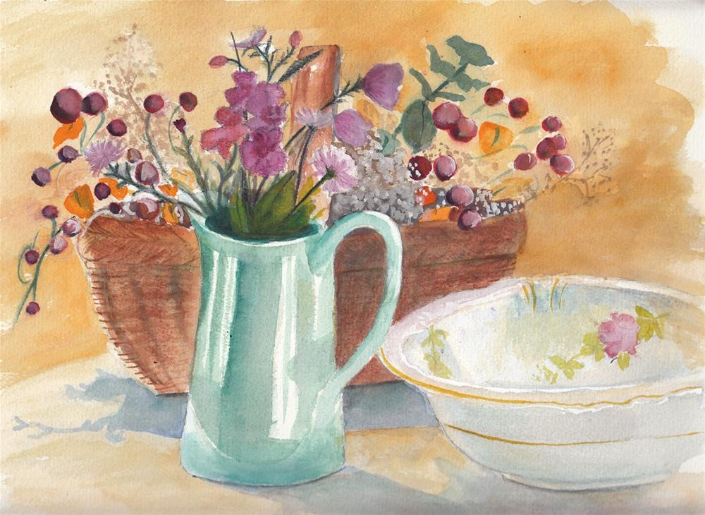 """""""Still Life with Flowers """" original fine art by Bunny Griffeth"""