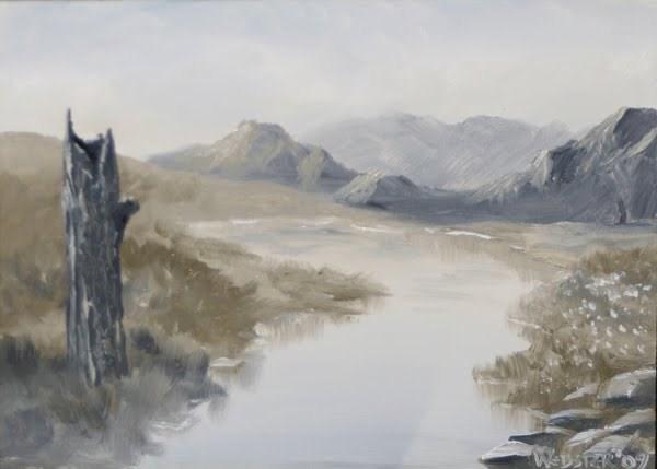 """""""Mark Webster - Grayscape #2 - Landscape Painting"""" original fine art by Mark Webster"""