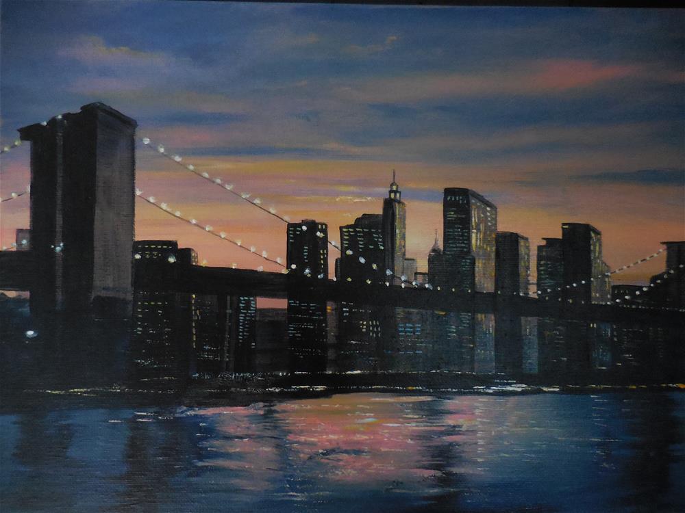 """I Love New York"" original fine art by Terri Nicholson"