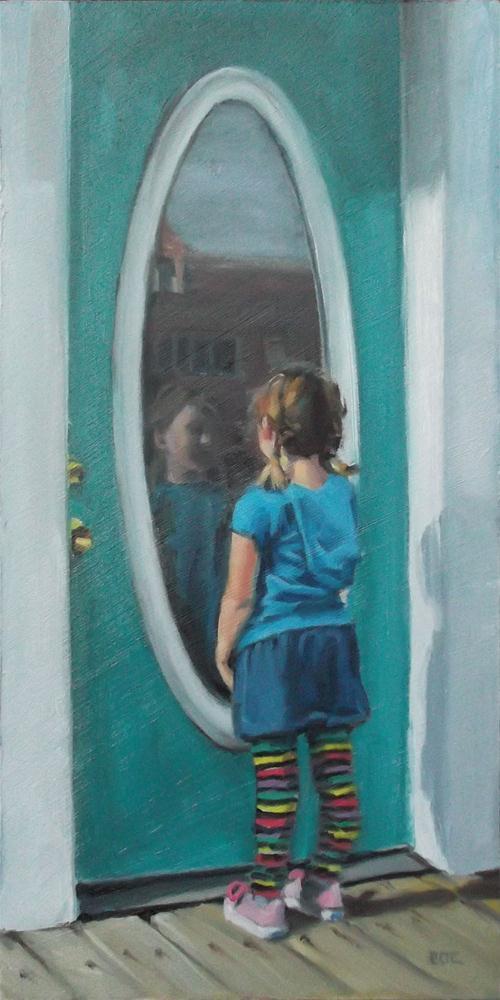 """""""Looking In"""" original fine art by Karen Boe"""