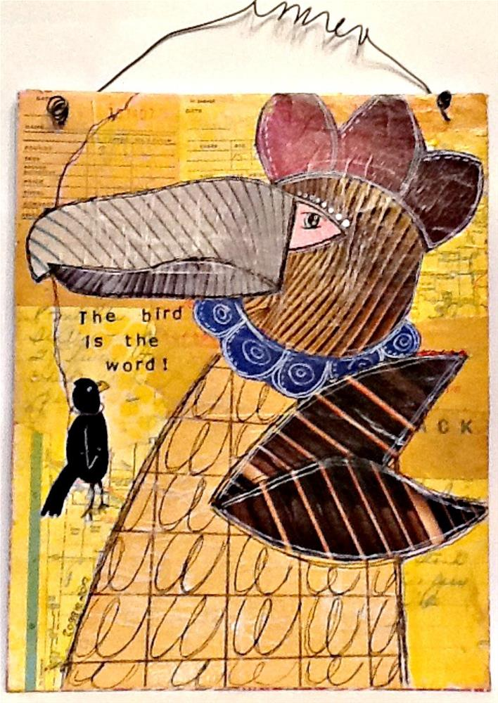 """THE BIRD IS THE WORD"" original fine art by Cindy Zoglmann"