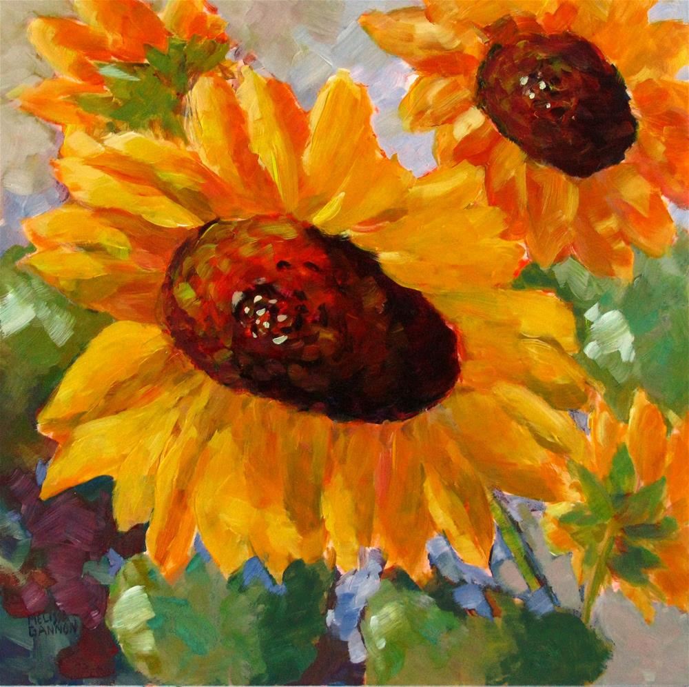 """Joyous Yellows"" original fine art by Melissa Gannon"