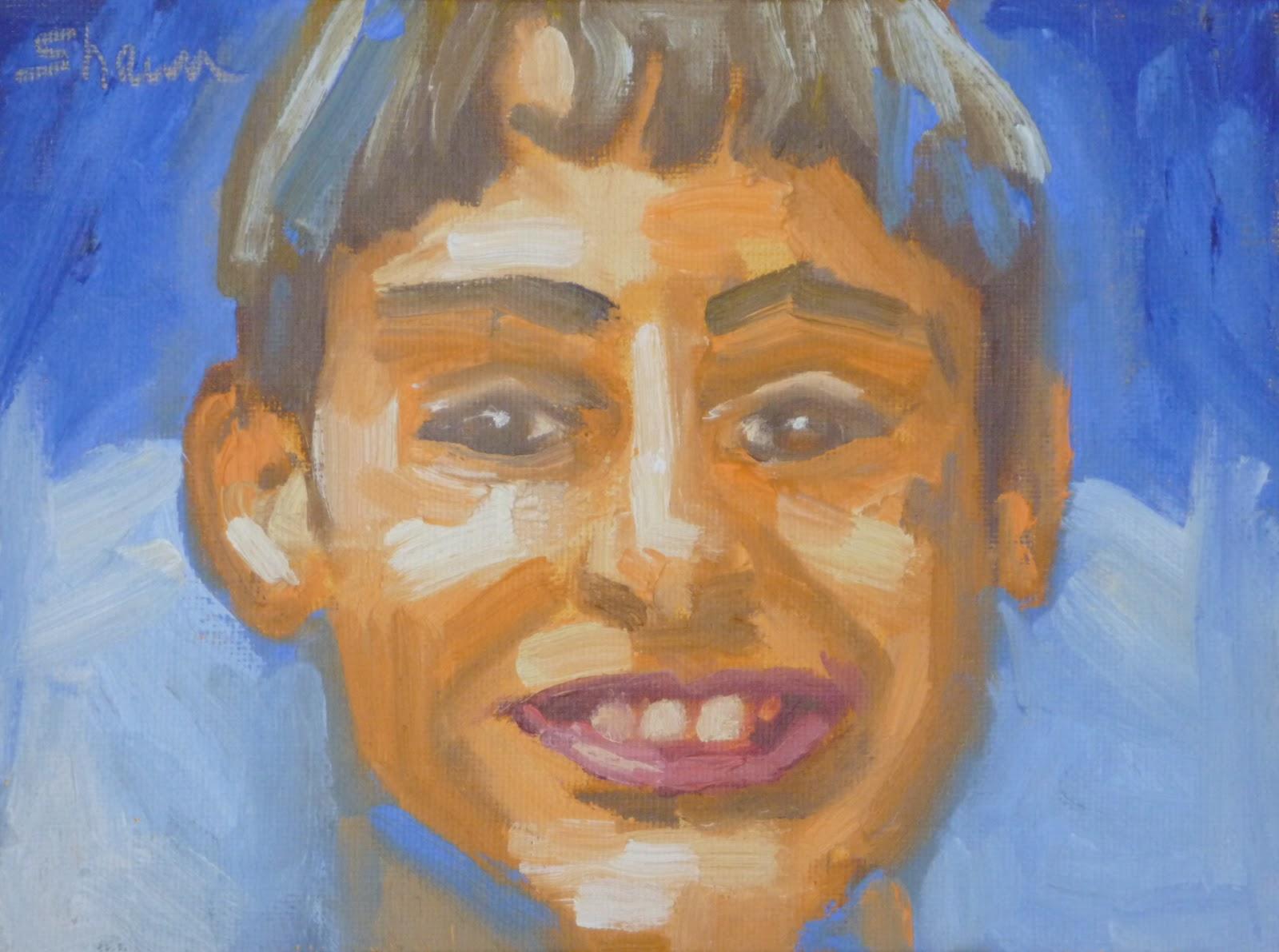 """""""Smilin' Ben"""" original fine art by Shawn Deitch"""