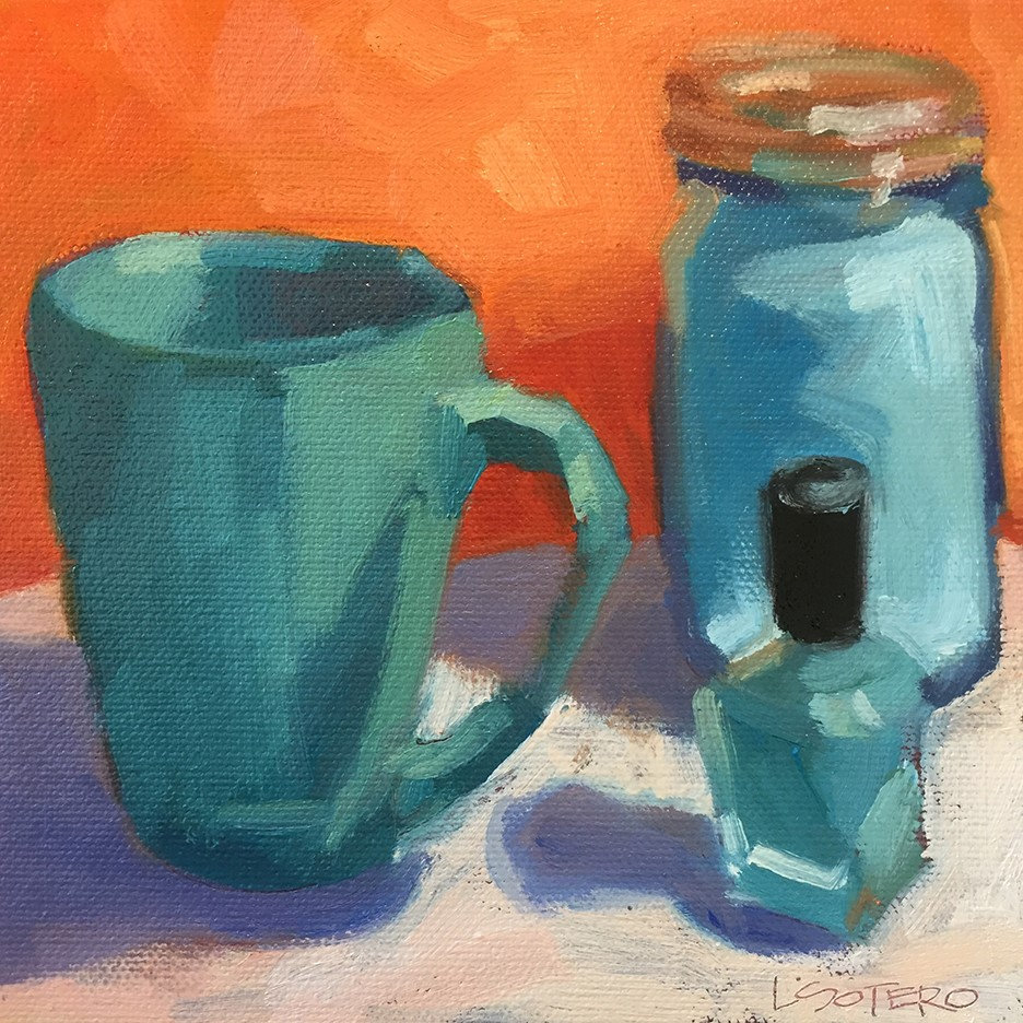 """Blue Things"" original fine art by Lisa Sotero"