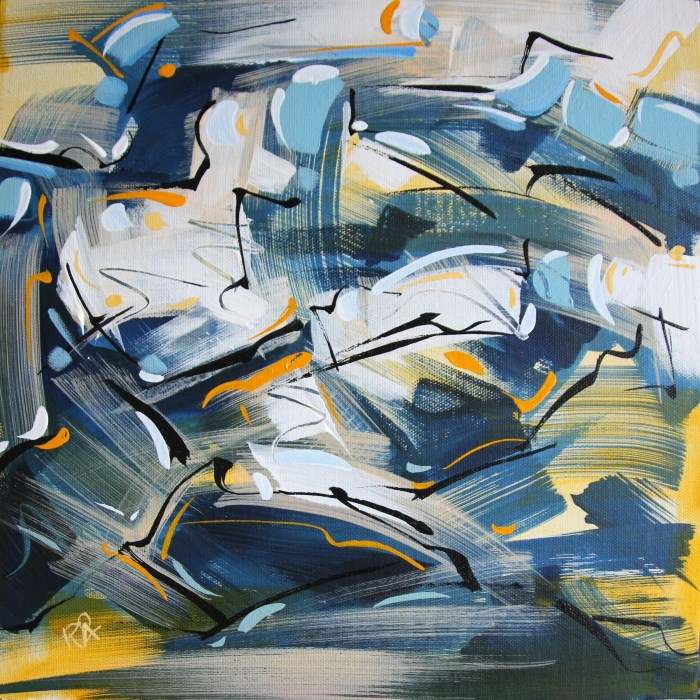 """Shapes & Movement 74"" original fine art by Roger Akesson"