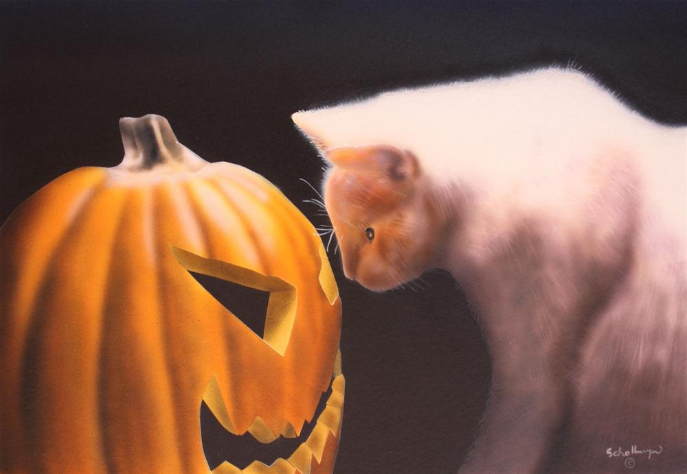 """""""Spell of the Jack O' Latern"""" original fine art by Fred Schollmeyer"""