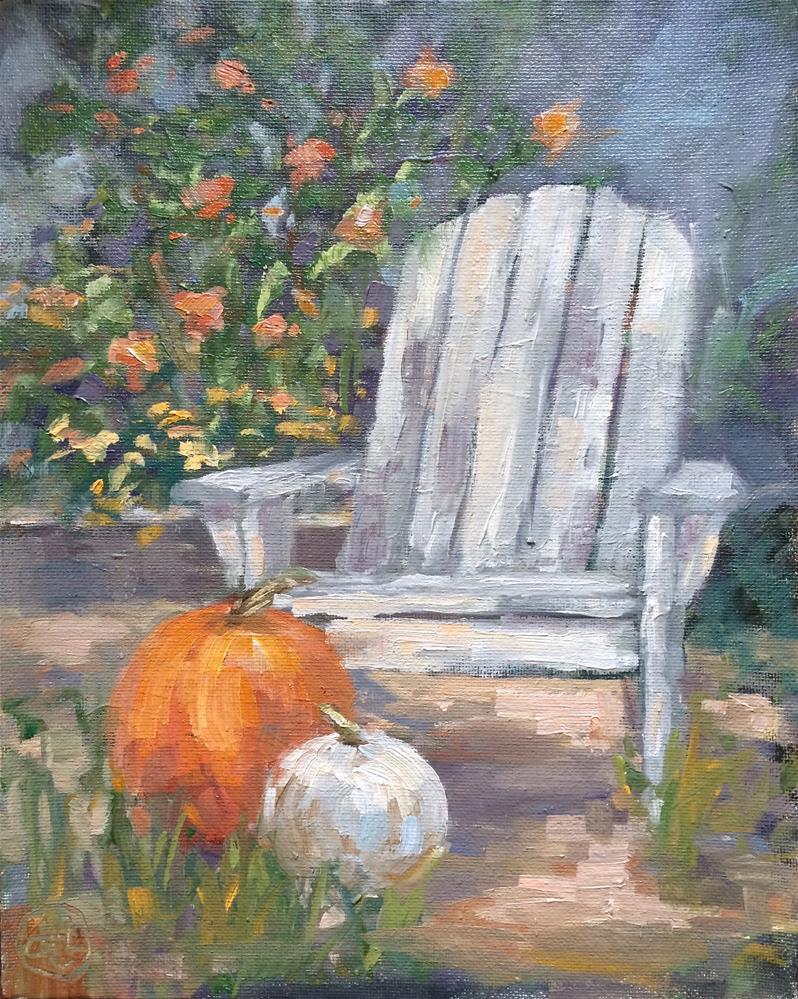 """a fall composition"" original fine art by Dottie  T  Leatherwood"