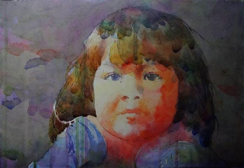 """Eyes of Wonder - WIP"" original fine art by Arena Shawn"