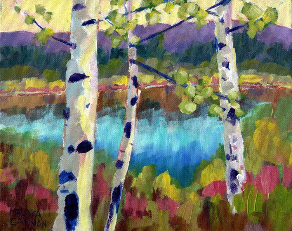 """High Mountain Home"" original fine art by Melissa Gannon"