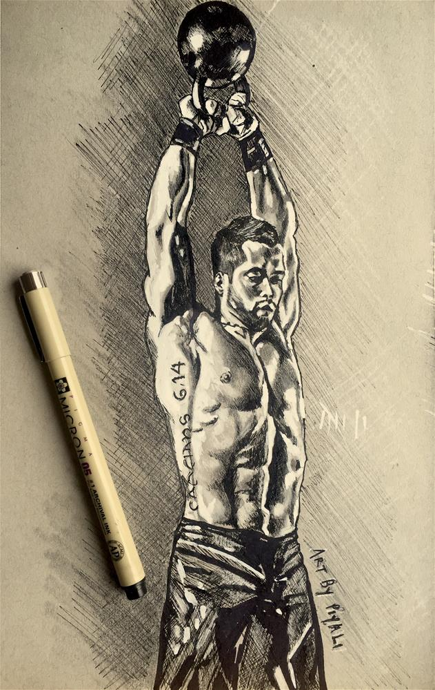 """Kettle Bell Swings"" original fine art by Piya Samant"