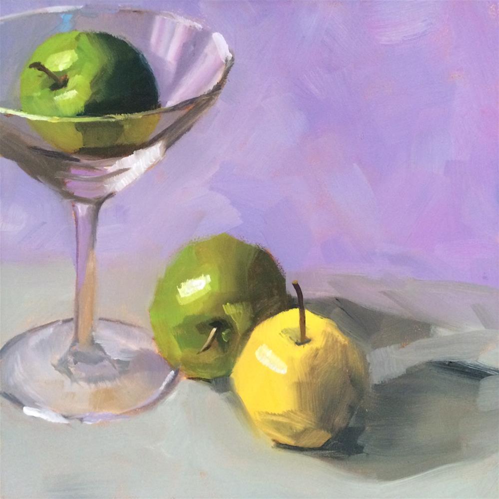 """""""Apple Martini"""" original fine art by Philla Barkhorn"""
