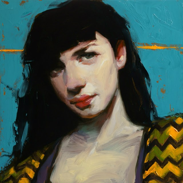 """Gold Line"" original fine art by John Larriva"