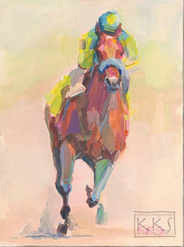 """Champion, Inspired by American Pharoah"" original fine art by Kimberly Santini"