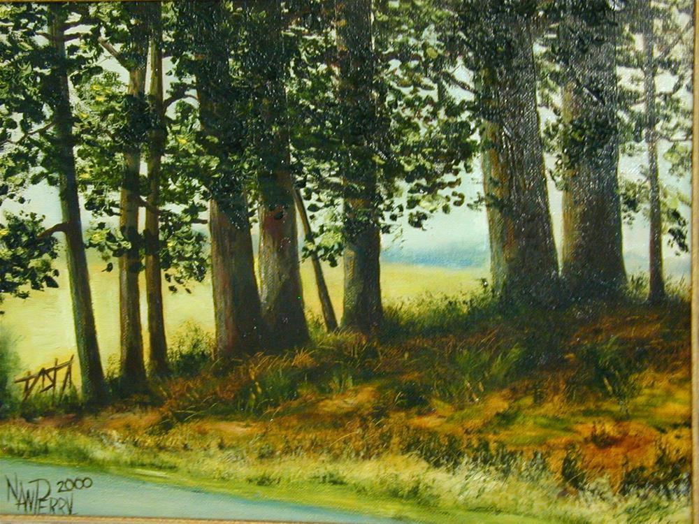 """Front Yard View"" original fine art by Nan Perry"