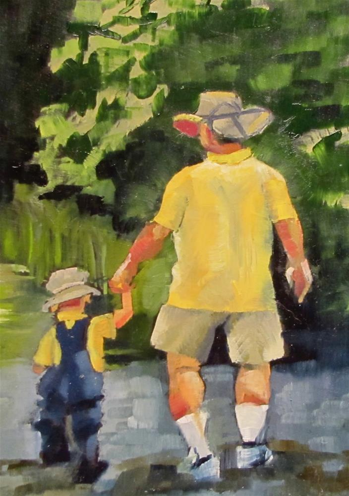 """""""A Walk in the Woods"""" original fine art by Christine Holzschuh"""