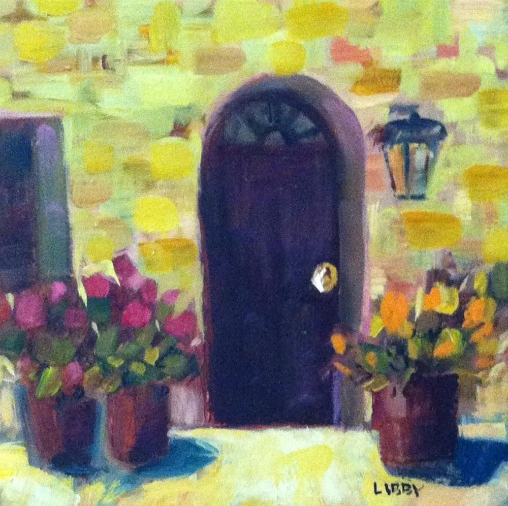 """""""Yellow Wall"""" original fine art by Libby Anderson"""