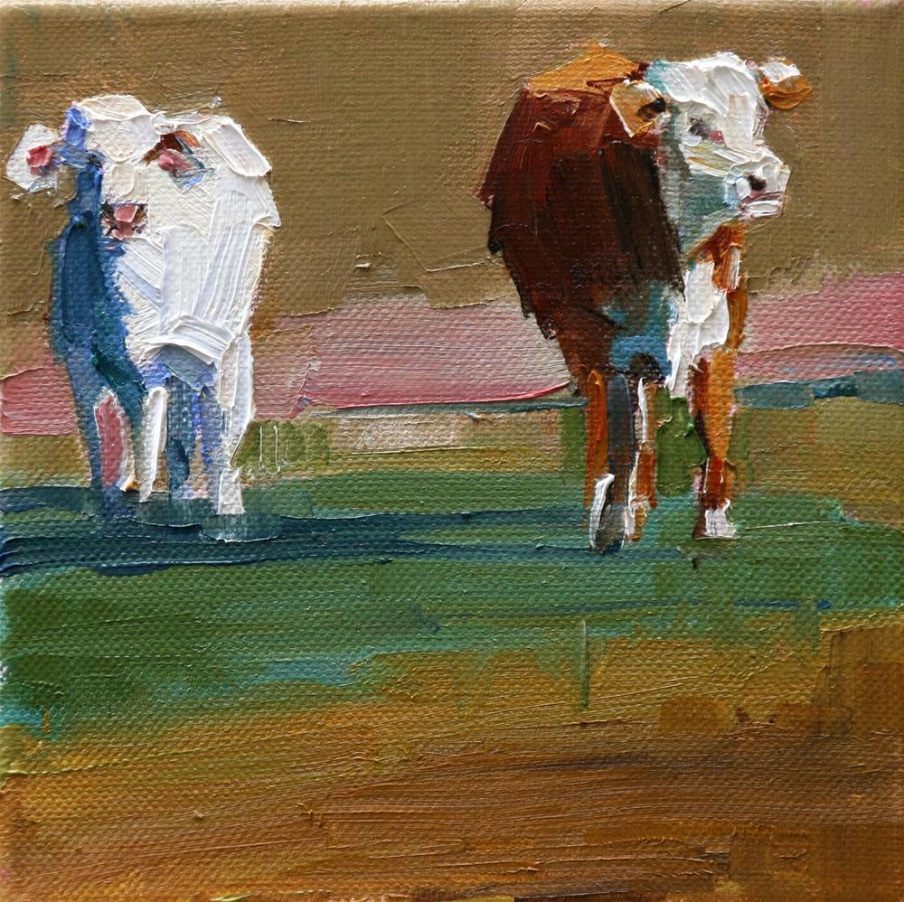 """a little pink"" original fine art by Carol Carmichael"