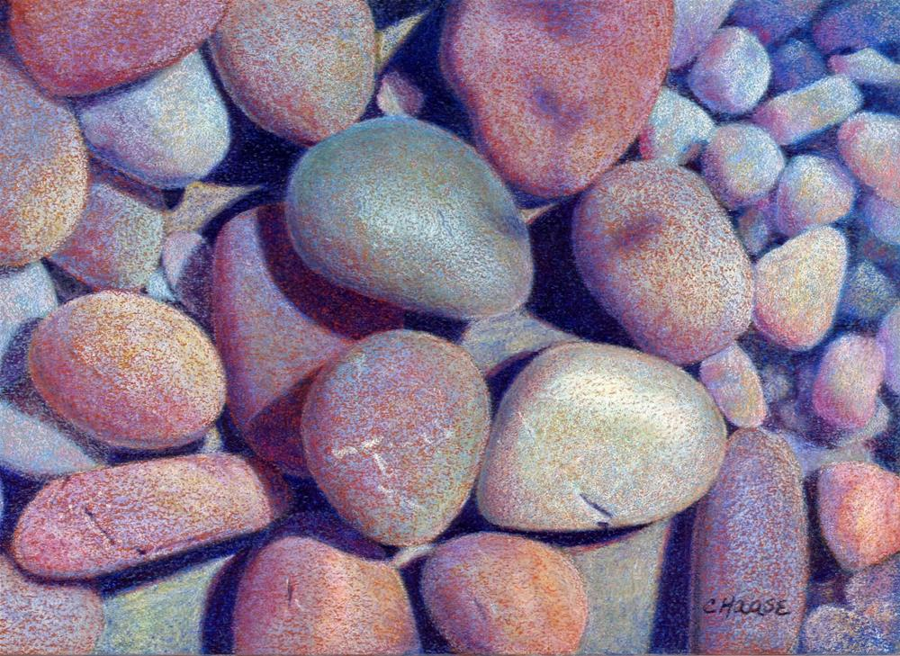 """Hot Rocks"" original fine art by Cindy Haase"