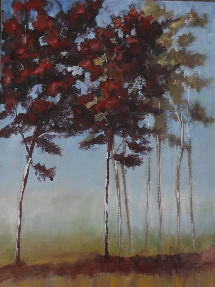 """12 x 16 inch acrylic Forest Series"" original fine art by Linda Yurgensen"