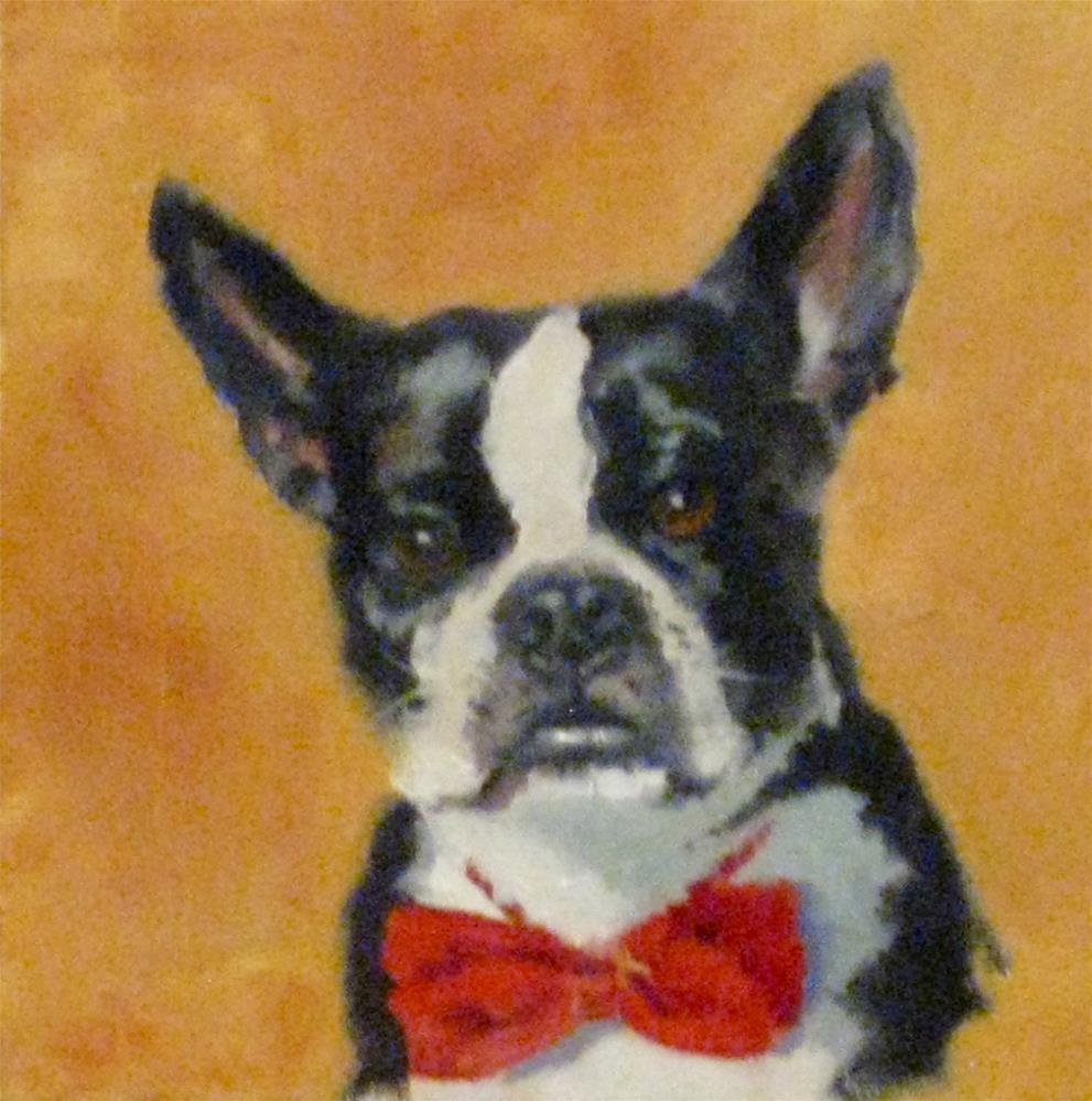"""BOSTON BOW TIE"" original fine art by Kris Stewart"