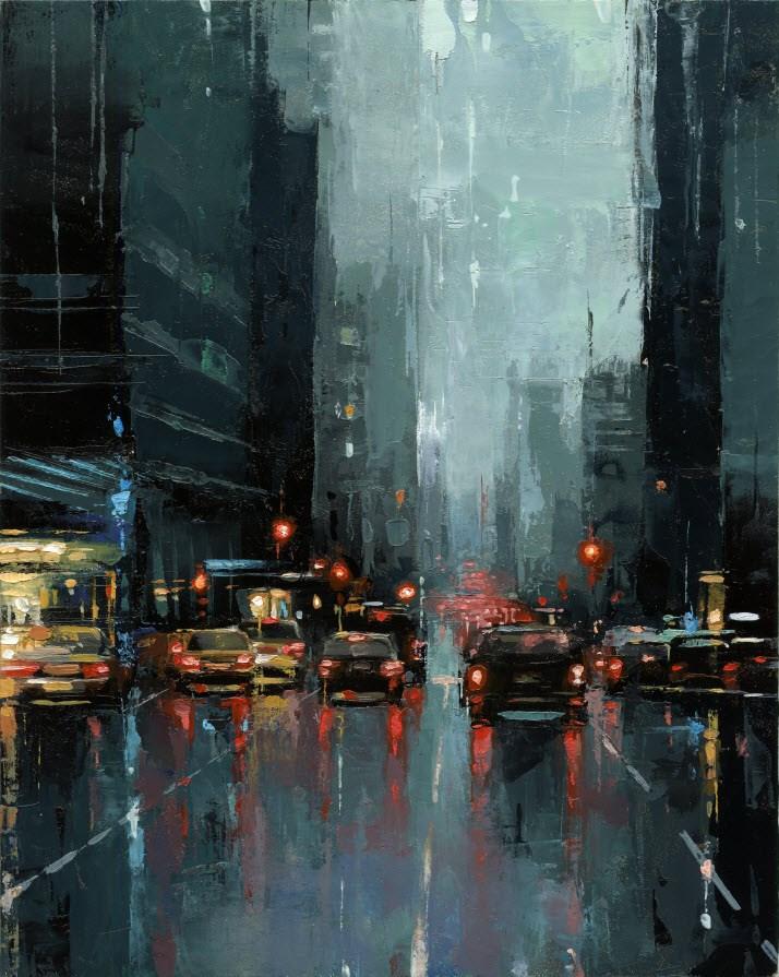 """NYC 3rd Avenue"" original fine art by Victor Bauer"