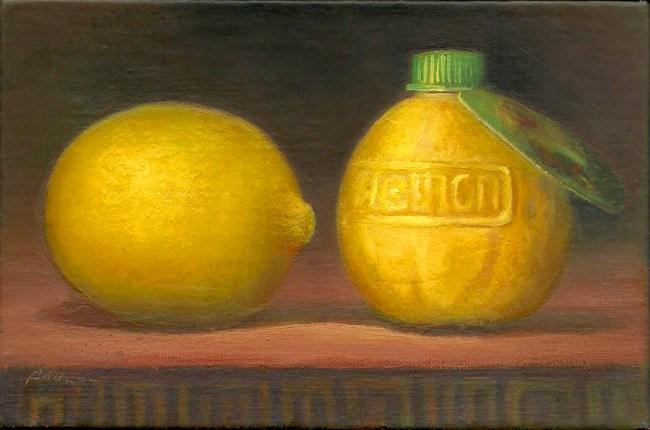 """""""Real Lemon"""" original fine art by Carol L Adamec"""
