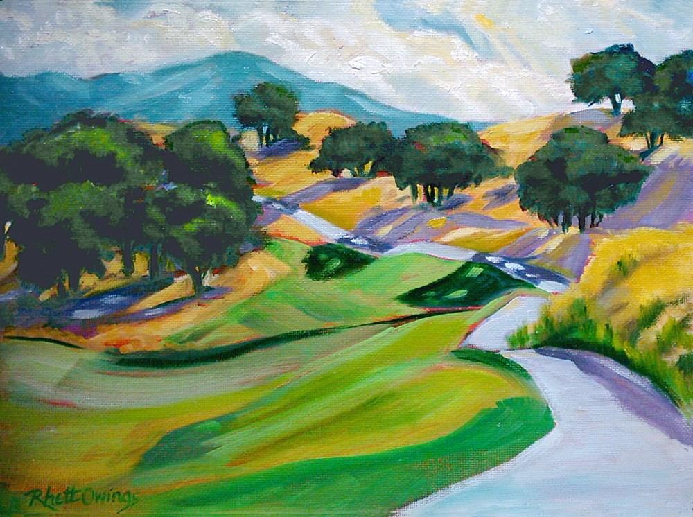 """The Golf Path"" original fine art by Rhett Regina Owings"