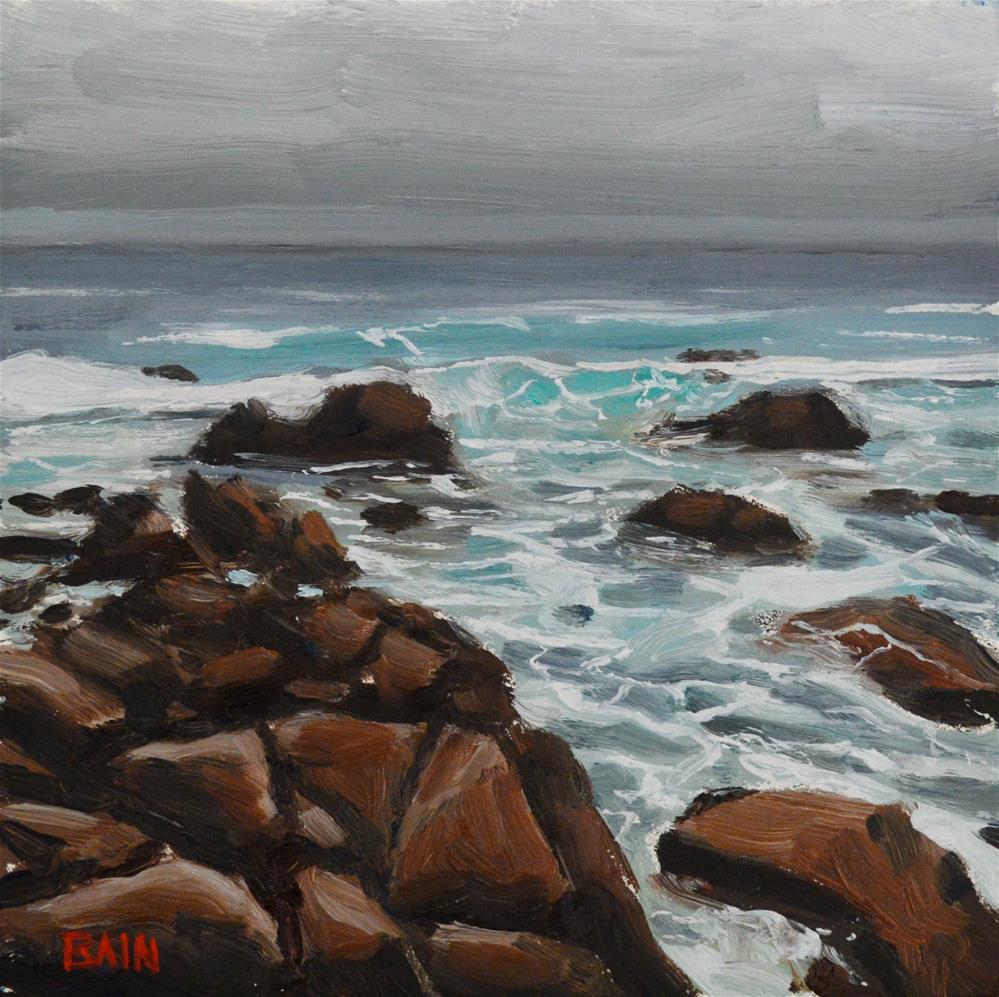 """Monterey Coast no.2"" original fine art by Peter Bain"
