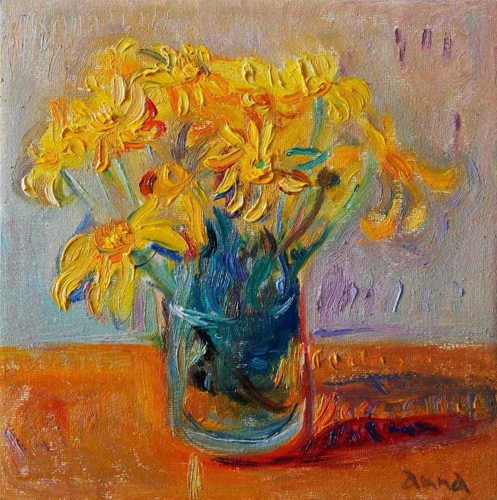 """Yellow Daisies"" original fine art by Anna Fine Art"