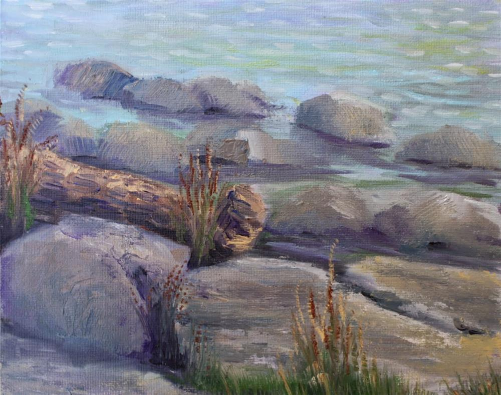 """Rocky Shore"" original fine art by Maggie Flatley"