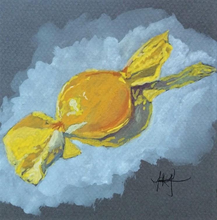 """""""Butterscotch"""" original fine art by Jennifer Krentz"""