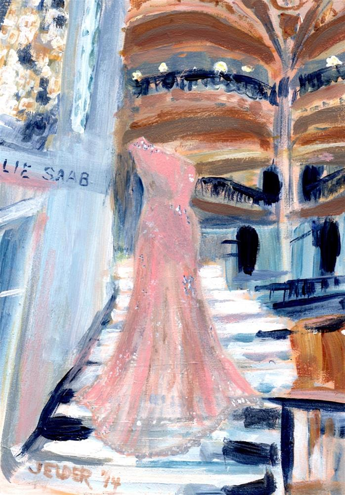 """""""Paris No. 43, Galerie Gown"""" original fine art by Judith Elder"""