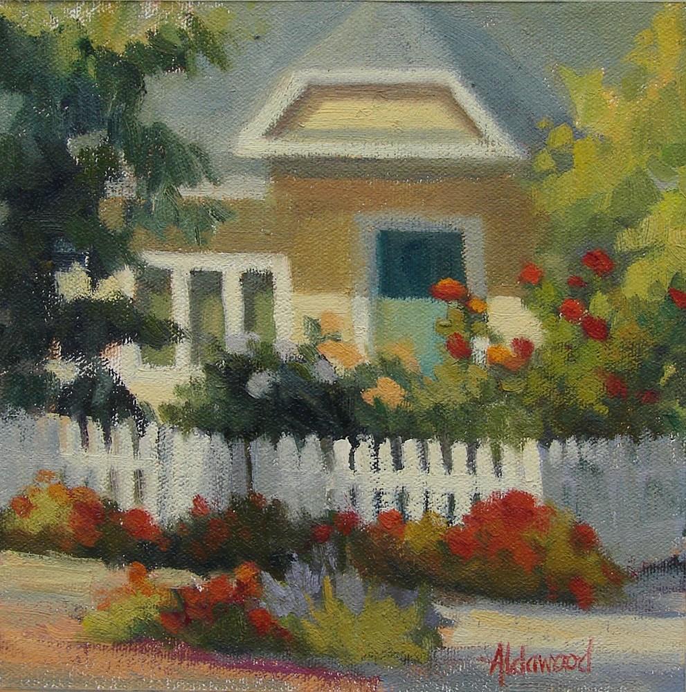 """Morley Field Cottage"" original fine art by Sherri Aldawood"
