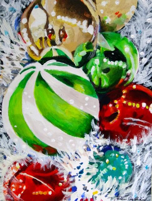 """""""Sparkly Boa"""" original fine art by JoAnne Perez Robinson"""