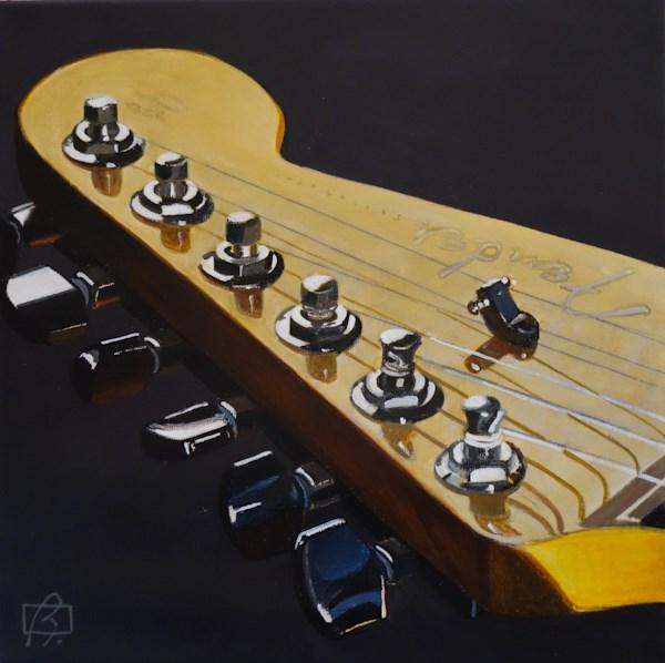 """Australian Fender II"" original fine art by Andre Beaulieu"