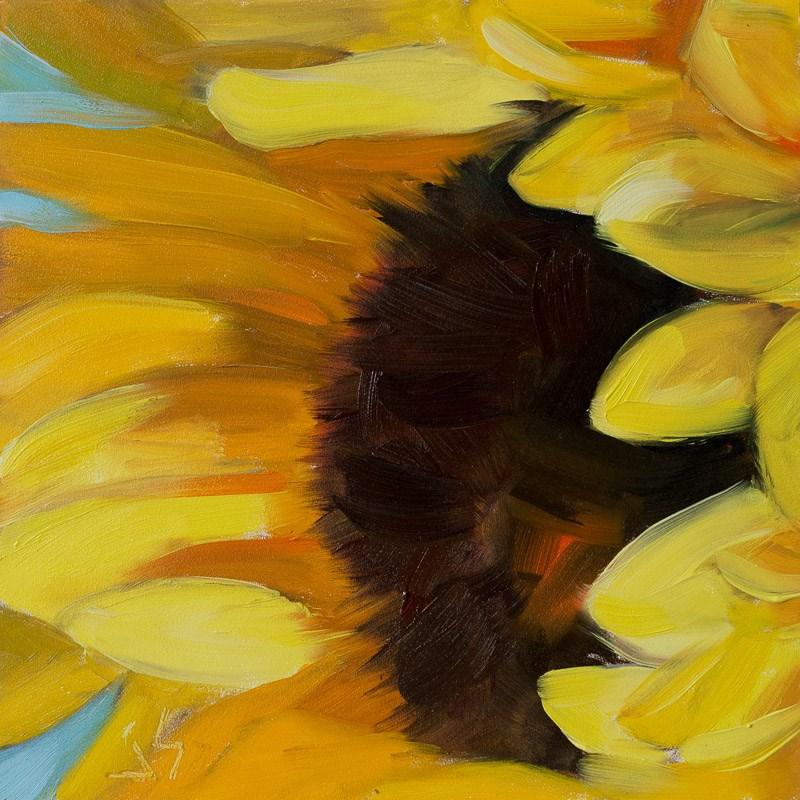 """""""Sunflower in Winter"""" original fine art by Johnna Schelling"""