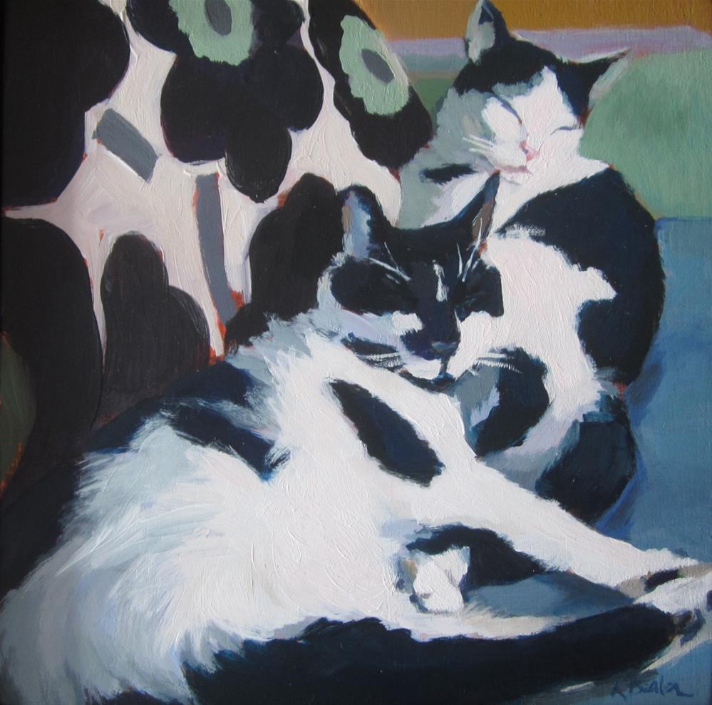 """Designer Cats"" original fine art by Kaethe Bealer"