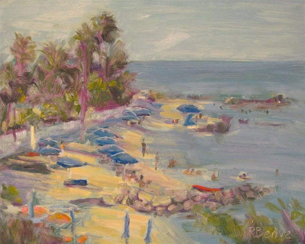 """Afternoon Beach"" original fine art by Robie Benve"
