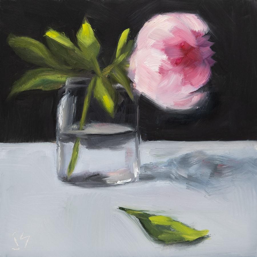 """Last Peony"" original fine art by Johnna Schelling"