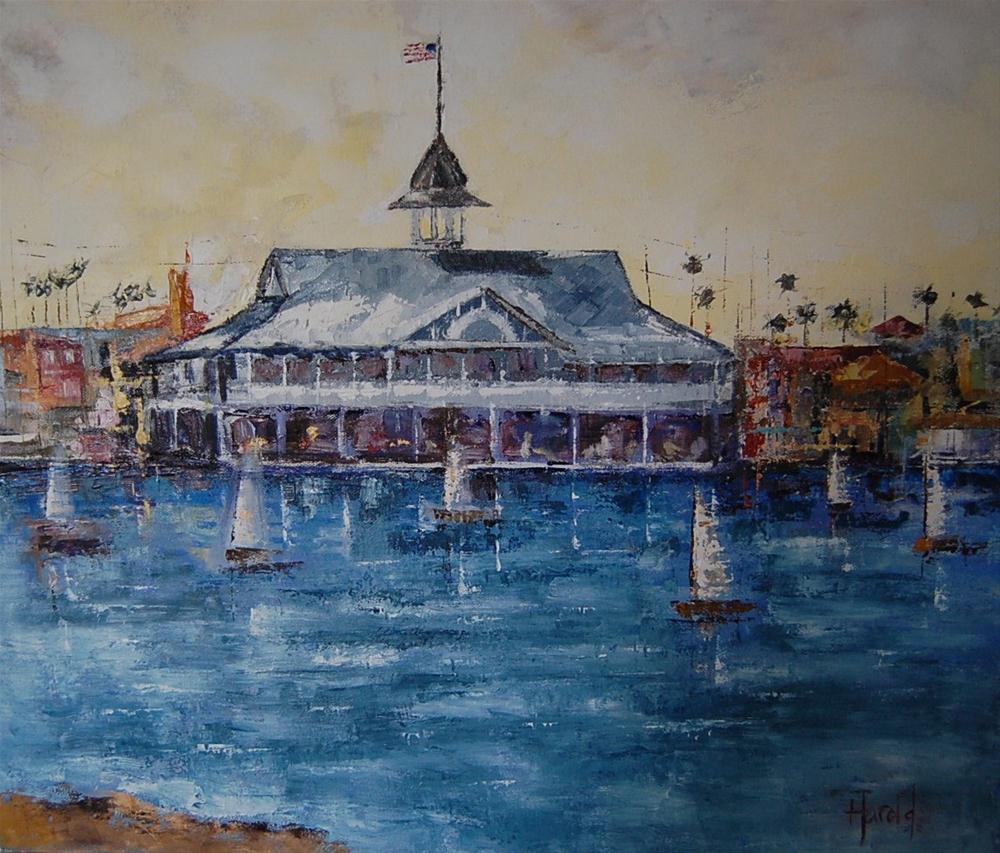 """""""Pavilion at Balboa"""" original fine art by Deborah Harold"""