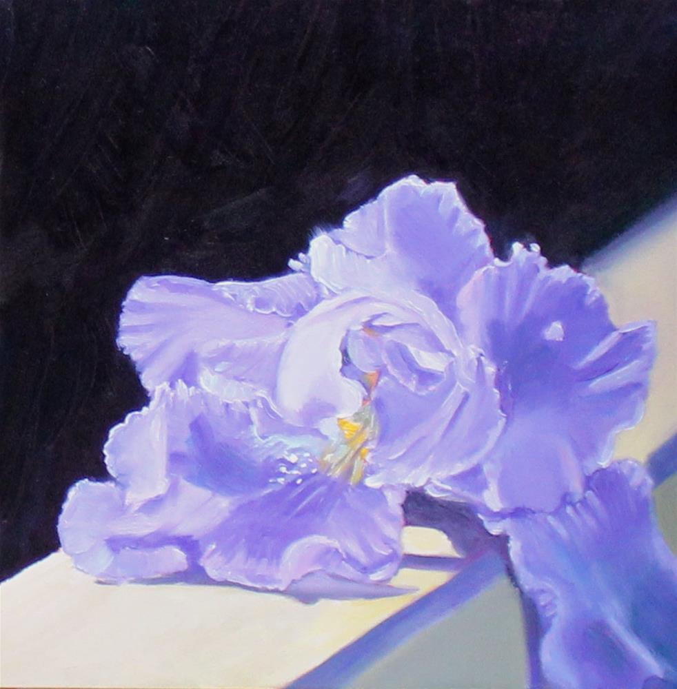 """""""All Decked Out, Iris Oil Painting"""" original fine art by Linda McCoy"""