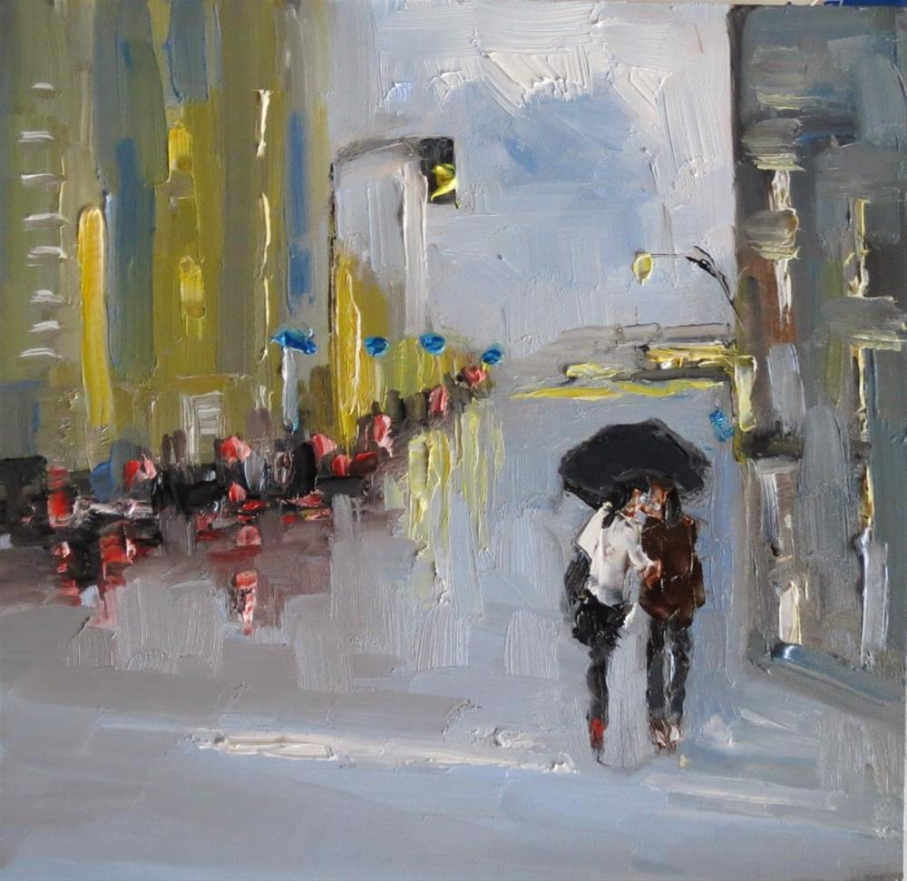 """Together in the rain"" original fine art by Astrid Buchhammer"