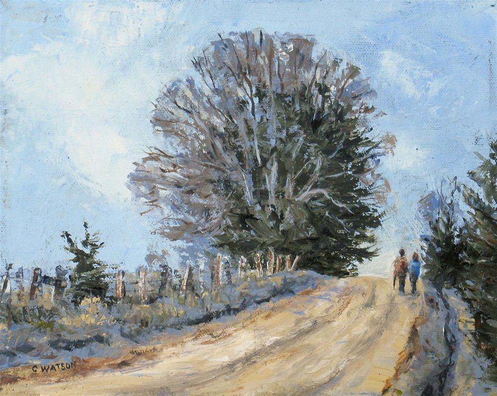 """""""Winter Walk"""" original fine art by carolyn watson"""