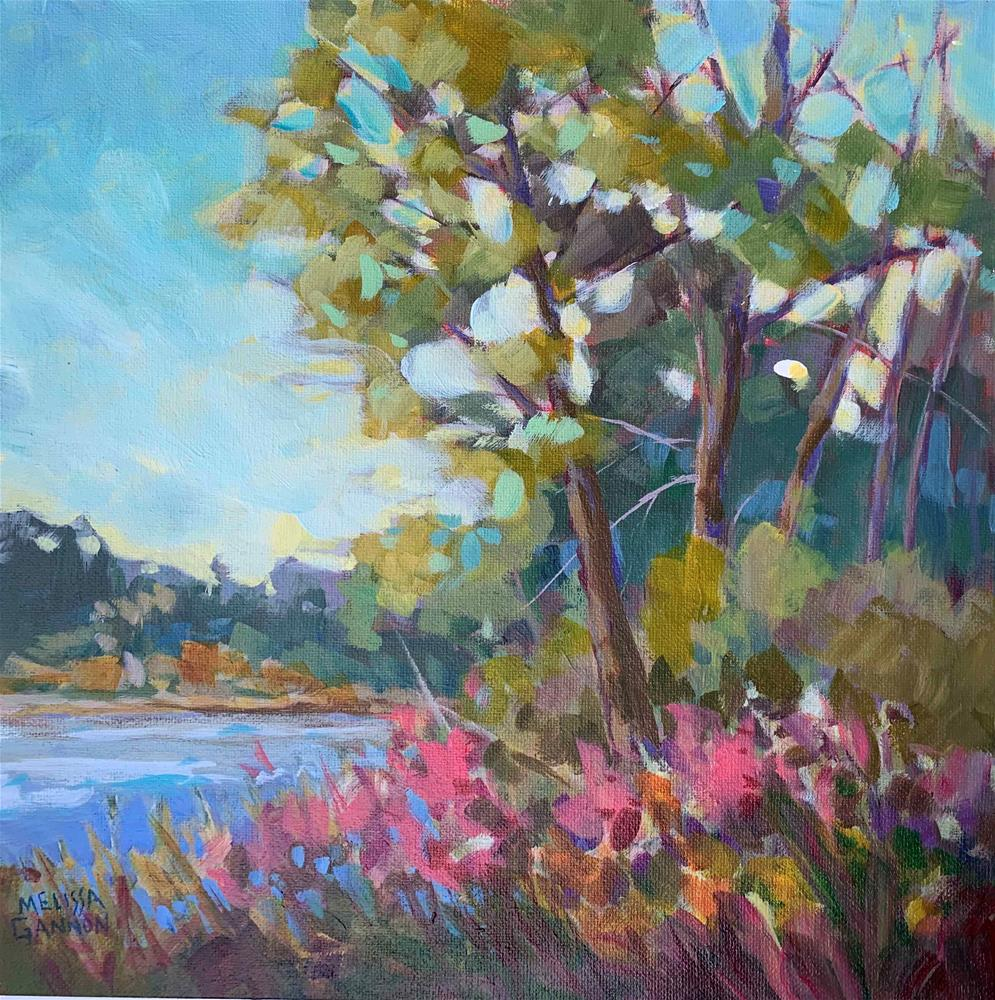 """""""Growing on the Bank of the River"""" original fine art by Melissa Gannon"""