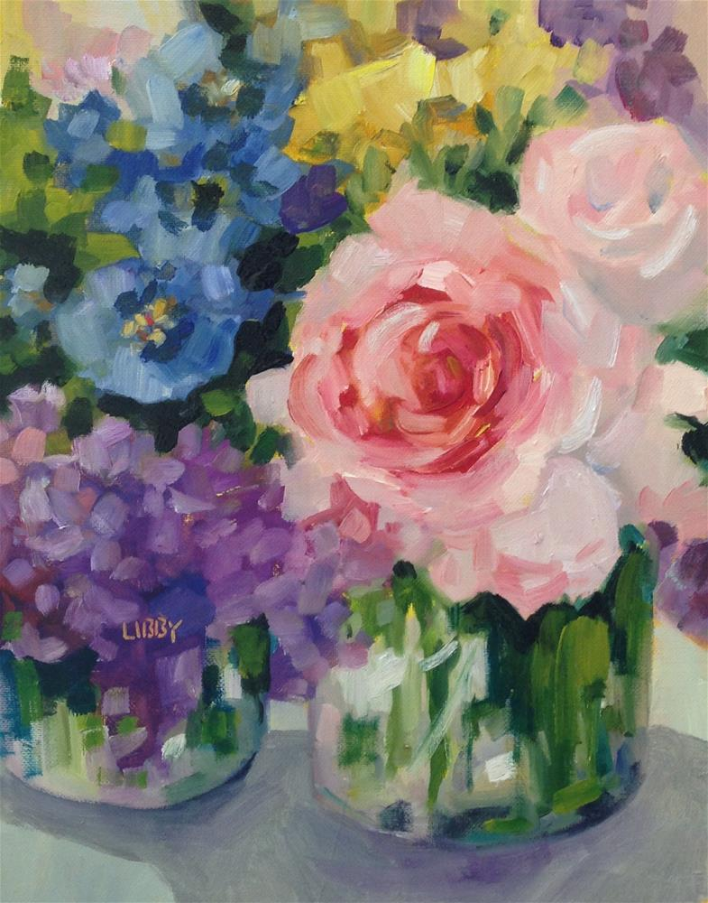 """Delighted"" original fine art by Libby Anderson"